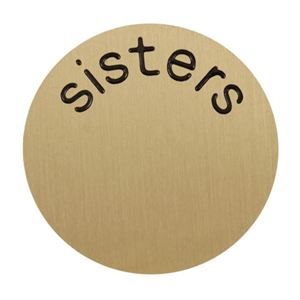 Picture of 'Sisters' Medium Gold Coin